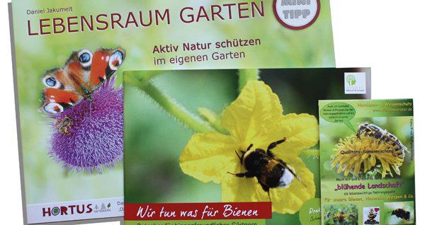 """Broschüren und Wildblumensamen-Mischung im Rahmen der Aktion """"Jeder m2 zählt ... für heimische Natur"""""""