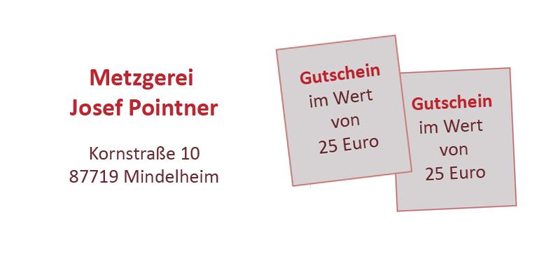 Gutscheine Metzgerei Pointner, Kornstraße Mindelheim